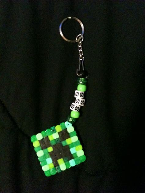bead keychain patterns minecraft creeper keychain by onyxlonewolf kandi photos