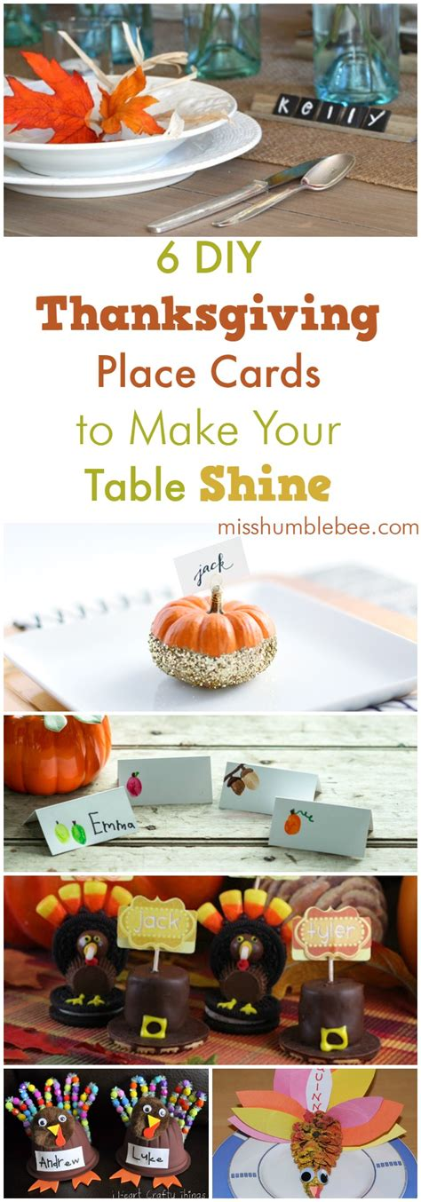 thanksgiving place cards for to make six diy thanksgiving place cards to make your table shine