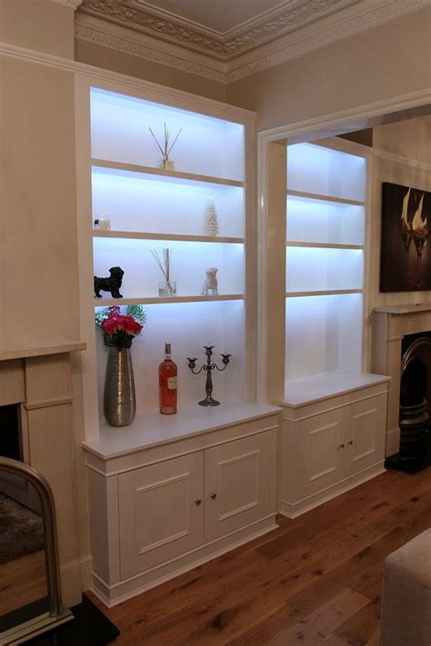 accent lighting bookshelves with led lighting light