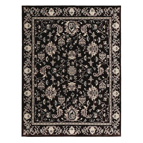 the jackson collection rugs home decorators collection jackson black 5 ft x 7 ft area rug 509415 the home depot