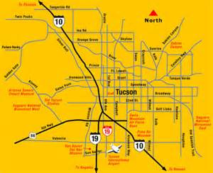map of tuscon arizona tucson map map