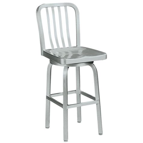 bar stool aluminum navy counter stool