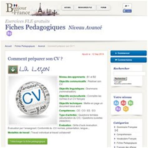 Preparer Un Cv En Francais by Cv Ecrits Pearltrees