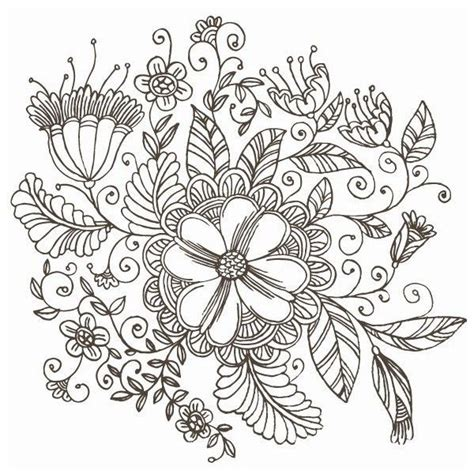 flower pattern dwg line drawing swirl flower pattern vector graphic liked on