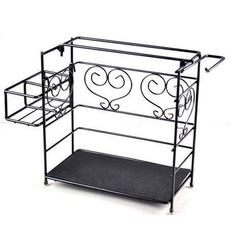 Wrought Iron Spice Rack by Dundee European Style Wrought Iron Kitchen Towel Spice Rack Shelf Ds600003 In Storage