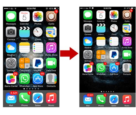 how to get iphone 6 plus display zoom like scaling options landscape home screen mode on