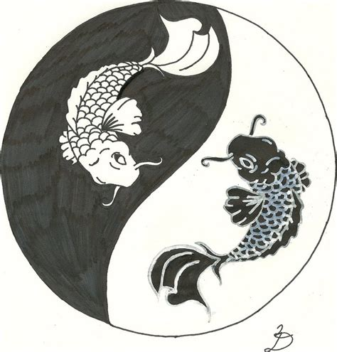 koi yin yang tattoo by relentlessart on deviantart
