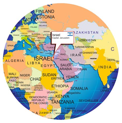 jerusalem in world map where is israel