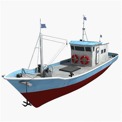 cartoon boat model 3d boat ship fish 1146356 turbosquid
