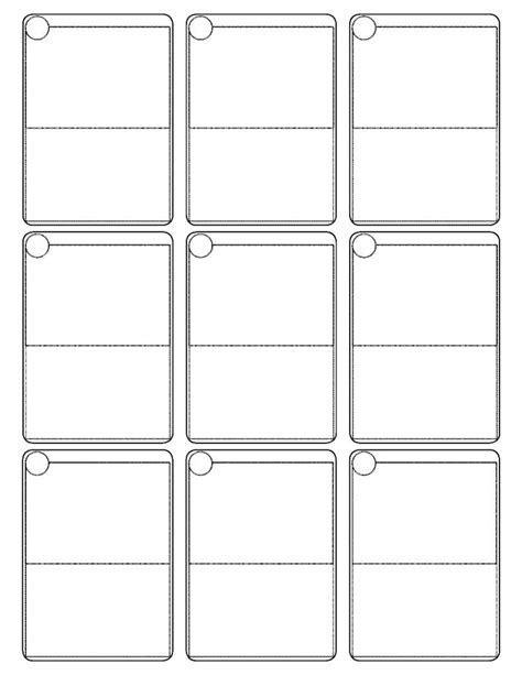 pages template 2x3 card cards template pok 233 mon scissors and template