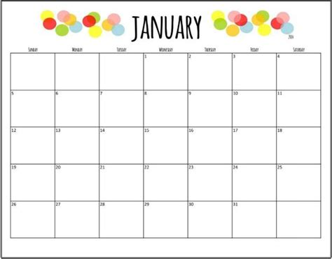 18 month calendar template free printable 18 month calendar cool stuff