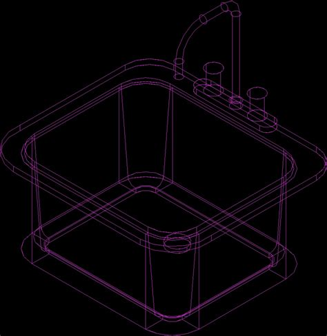 Evier Dwg by Sink 3d Dwg Model For Autocad Designscad