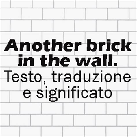 another brick in the wall testo andrea canta a x factor another brick in the wall