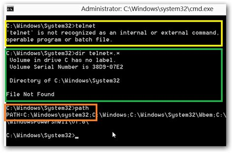 windows 8 explorer why can t i launch telnet exe from a windows 8 command