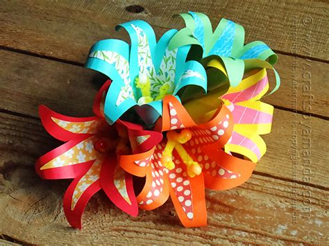 How To Make Flowers With Craft Paper - tropical paper flowers crafts by amanda