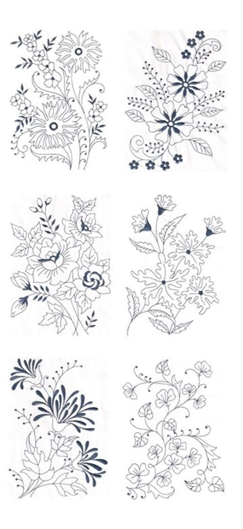Imagenes De Flores Para Bordar A Mano   bellos y sencillos dibujos de flores para bordar tejidos