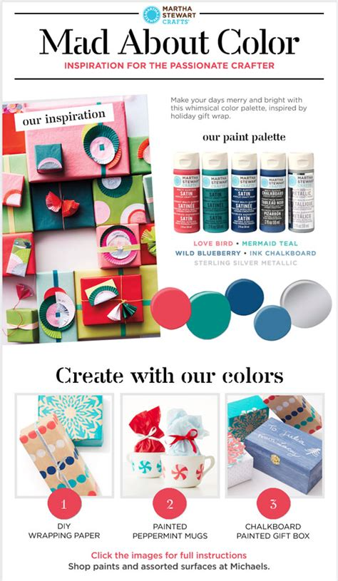 Martha Stewart Crafts Mad About Color A Colorful Christmas Palette Plaid Online Colorful Email Templates