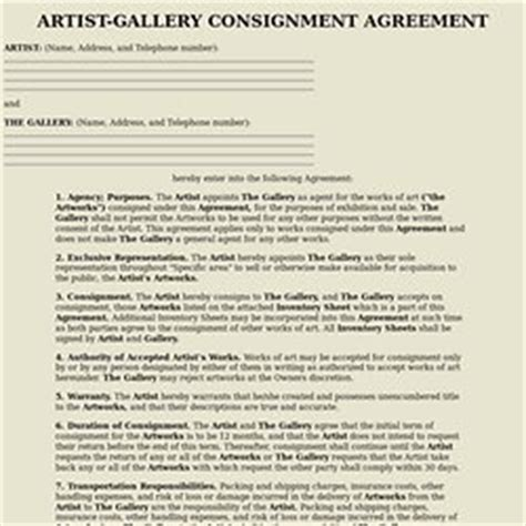 Felting Pearltrees Artist Consignment Agreement Template