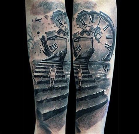 clock tattoo designs for men 80 clock designs for timeless ink ideas