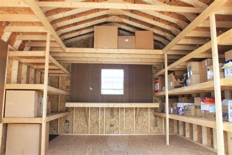 How To Build A Shelf In A Shed by Shed Storage Ideas On Shed Organization Shed