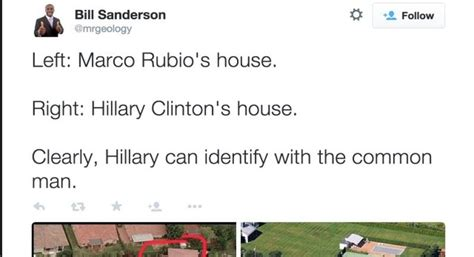 how many homes do the clintons own picture of hillary s house next to rubio s is going viral