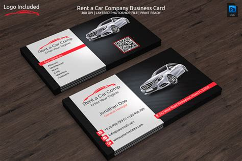 free car rental business card template 20 cool automotive business cards psds