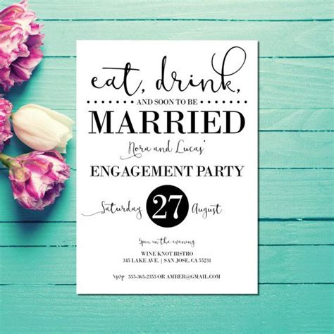 engagement invitations engagement party invites eat