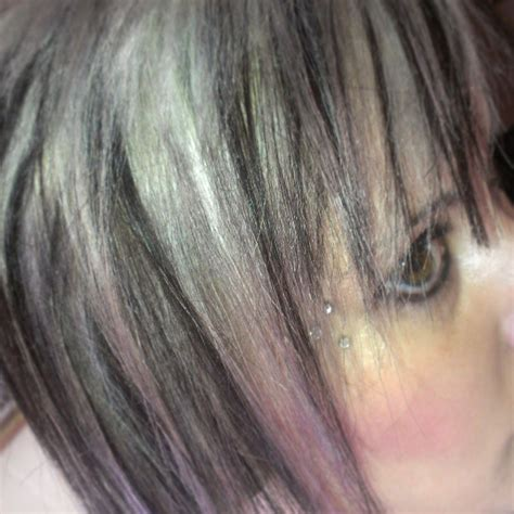salt pepper hair with blonde streaks ideas 1000 images about highlights hair on pinterest chunky