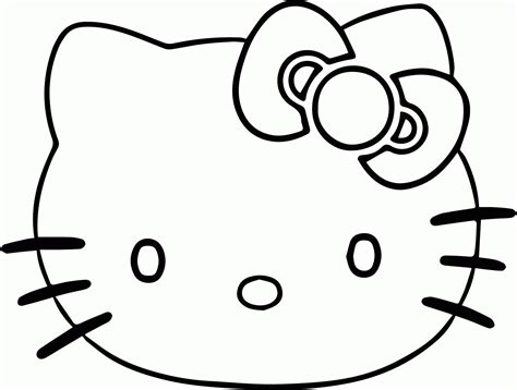 kitten face coloring page hello kitty face coloring page wecoloringpage az