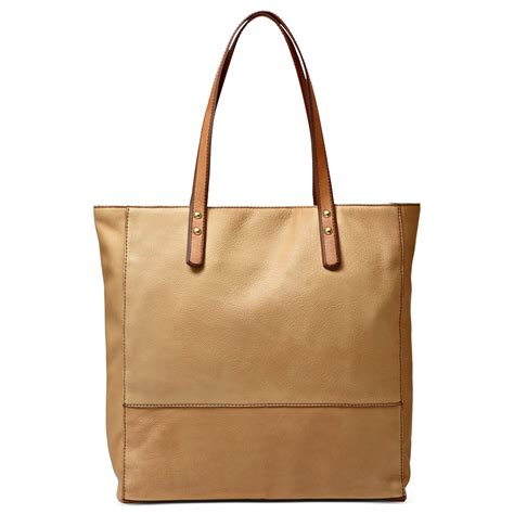 Fossil Tote Bag Leather lyst fossil zoey leather tote in brown