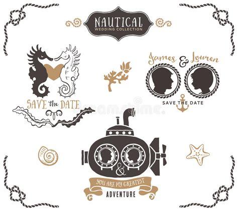 Nautical Wedding Clipart by Wedding Invitation Logo Templates In Nautical
