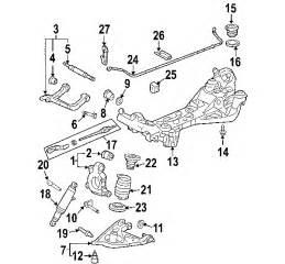 parts 174 oldsmobile silhouette suspension components oem parts
