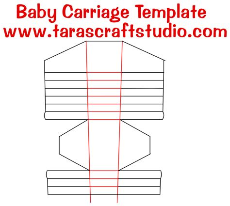 the paper studio note card templates baby carriage with cutting file tara s craft studio