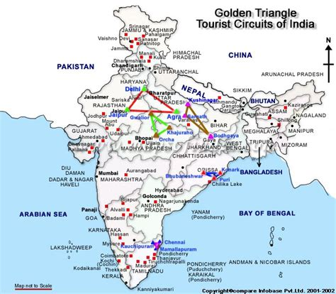golden triangle travel map golden triangle circuit map