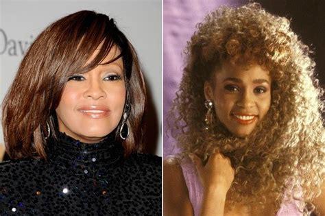 hairstyles of whitney houston whitney houston awe inspiring celebrity hairstyles from