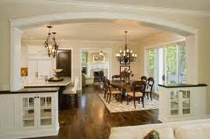 open kitchen living dining room floor plans dining room