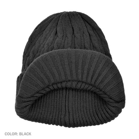 how to knit a cable beanie jaxon hats cable knit acrylic visor beanie hat beanies
