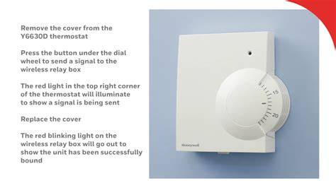reset wifi thermostat binding the y6630d wireless room thermostat honeywell