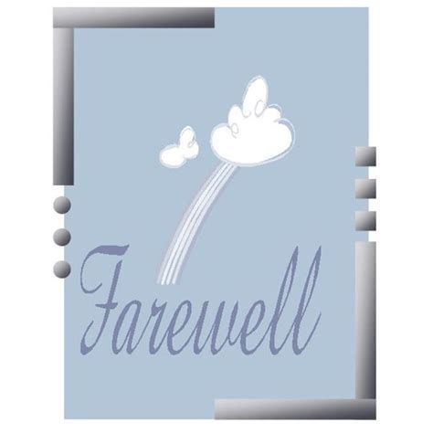 farewell templates free 8 best images of printable goodbye card template free