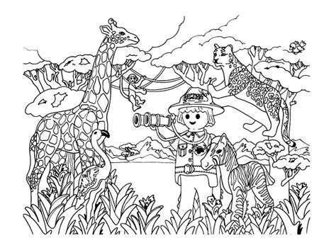 Playmobil Savane Animaux Coloriage Playmobil
