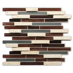 peel and stick glass backsplash tile shop instant mosaic 2013 brown mixed material glass and
