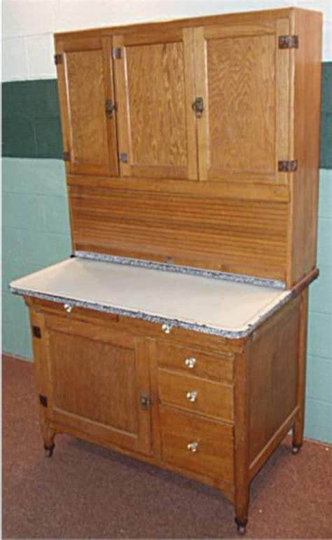 how much is an oak hoosier cabinet worth