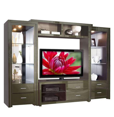 Savoy Wall Unit   Big Glass Shelves & Open Spaces