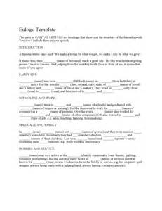 eulogy template free