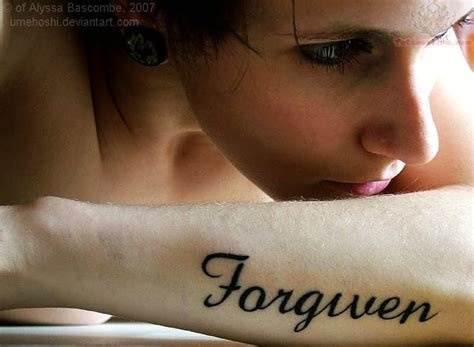 forgiveness tattoos word tattoos forgiven