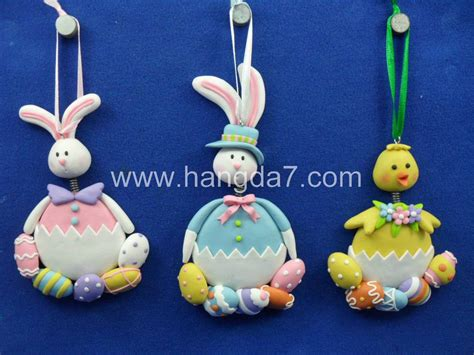 Easter Handcrafts - polymer clay dough handicrafts easter pendant easter gifts