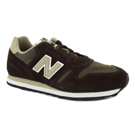 New Balance 373 Olive Green new balance 373 mens suede mesh laced running trainers