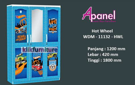 Lemari Wheels jual lemari wheels wdm 11232 hwl by apanel