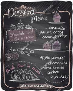 chalkboard menu template free sle chalkboard menu template chalk board style flyer