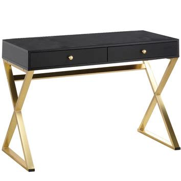 black and gold desk chair milan direct black gold marilyn office desk reviews
